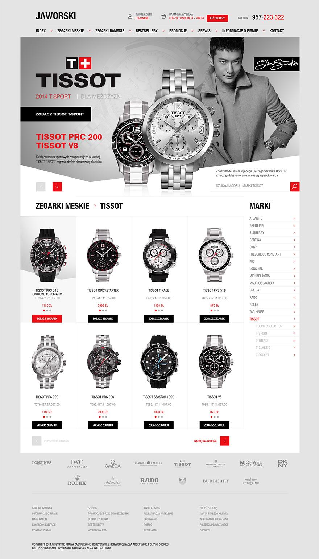 Strona sklepu internetowego Jaworski