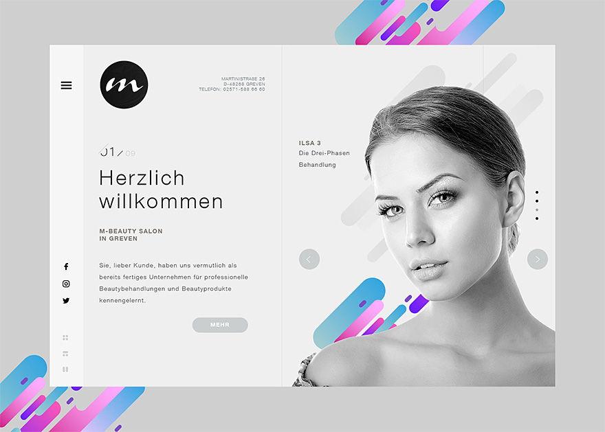 M-Beauty - projekt graficzny