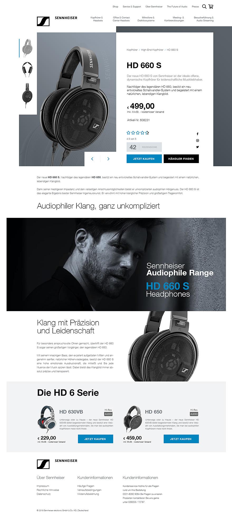 Sennheiser - projekt graficzny