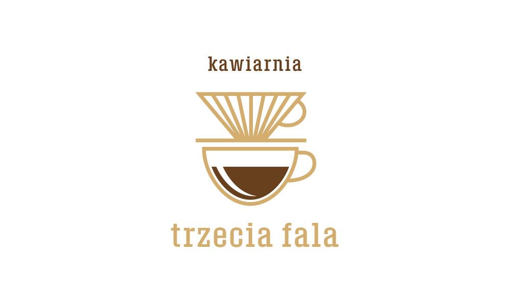 Kawiarnia Trzecia Fala - logo, kolor