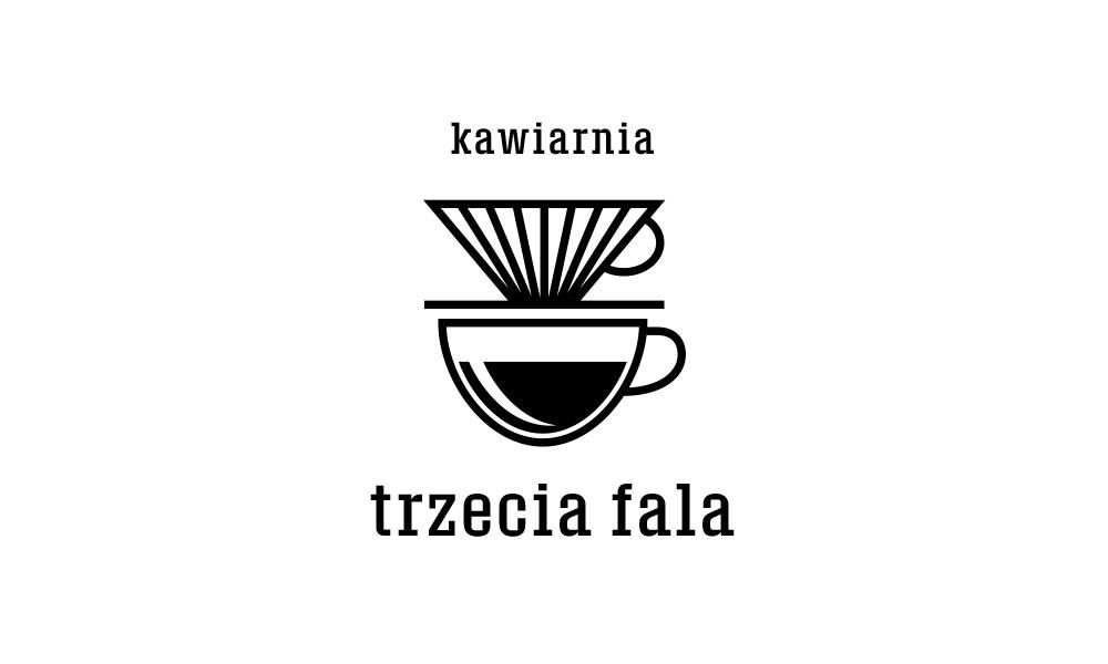 Kawiarnia Trzecia Fala - logo, czerń
